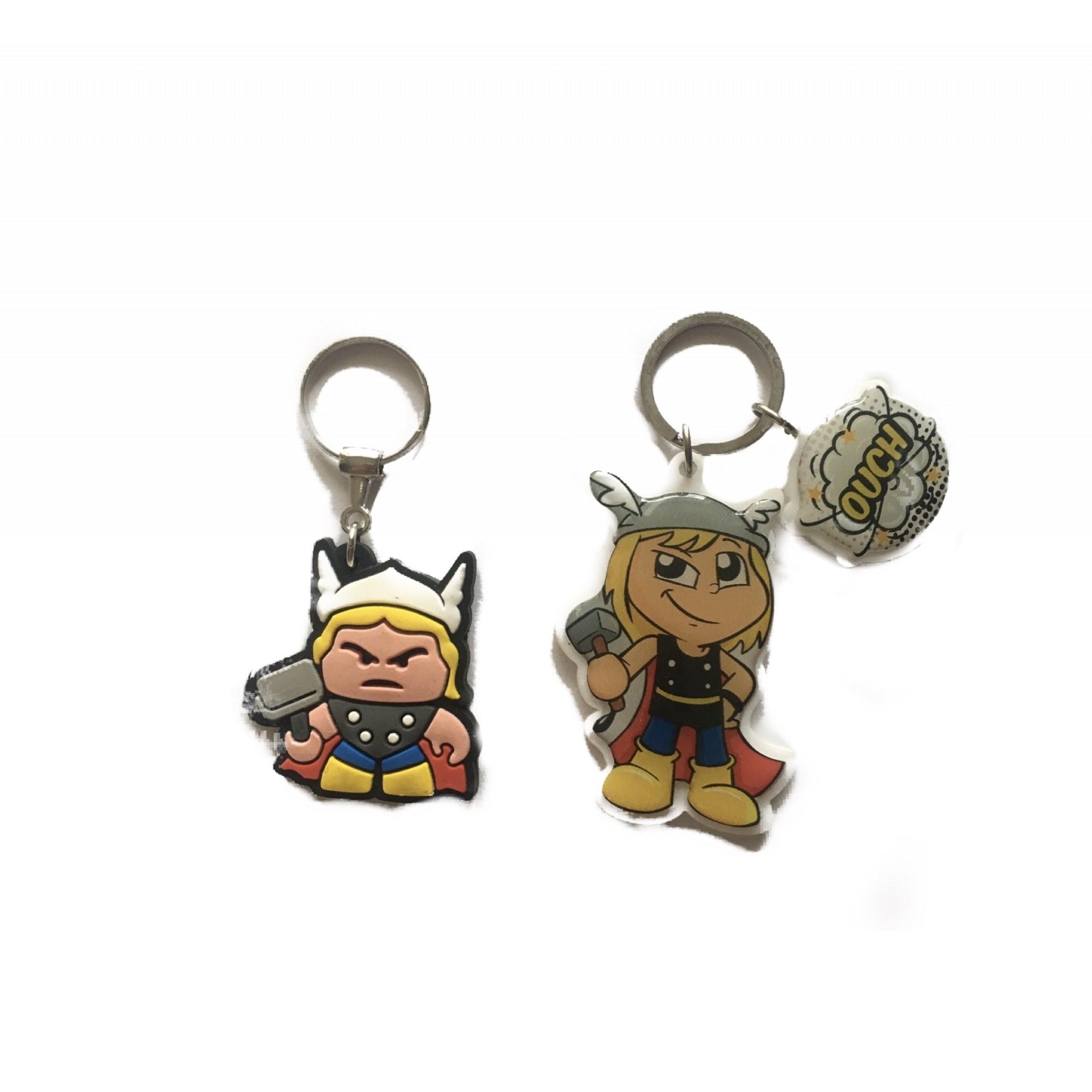 Conjunto Chaveiros de Acrílico e Emborrachado Thor