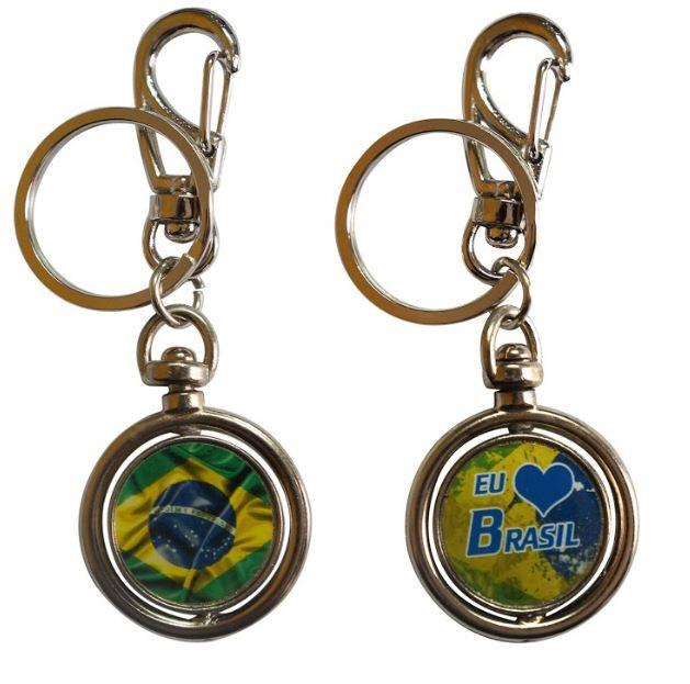 Chaveiro Giratório Brasil