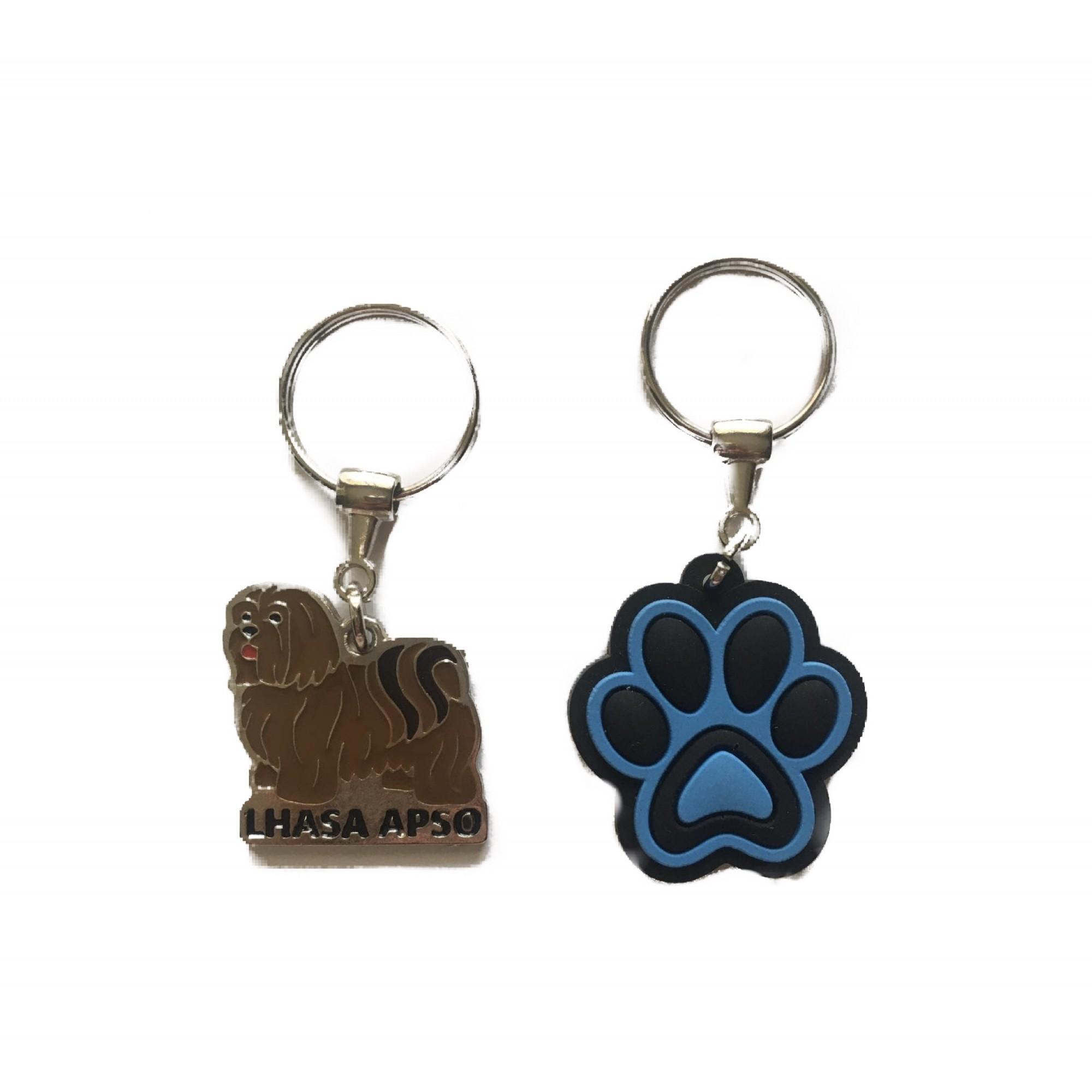 Conjunto Chaveiros Lhasa Apso E Patinha De Cachorro