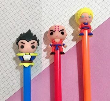 Conjunto 3 canetas Dragon Ball