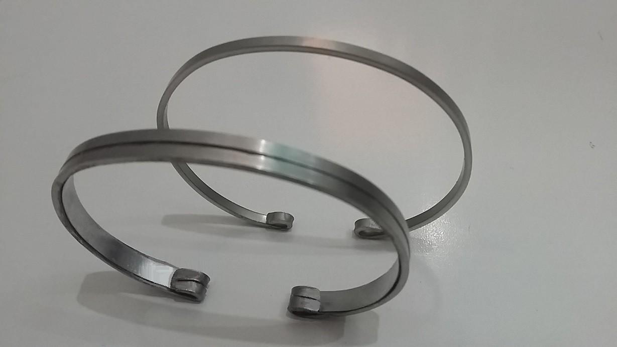 Conjunto Braceletes em Aço Inox