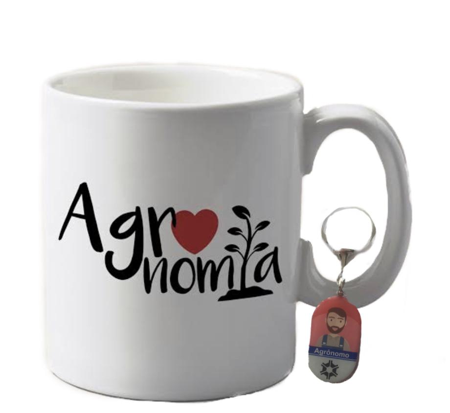 Conj. Caneca e Chaveiro Profissão Agronomia