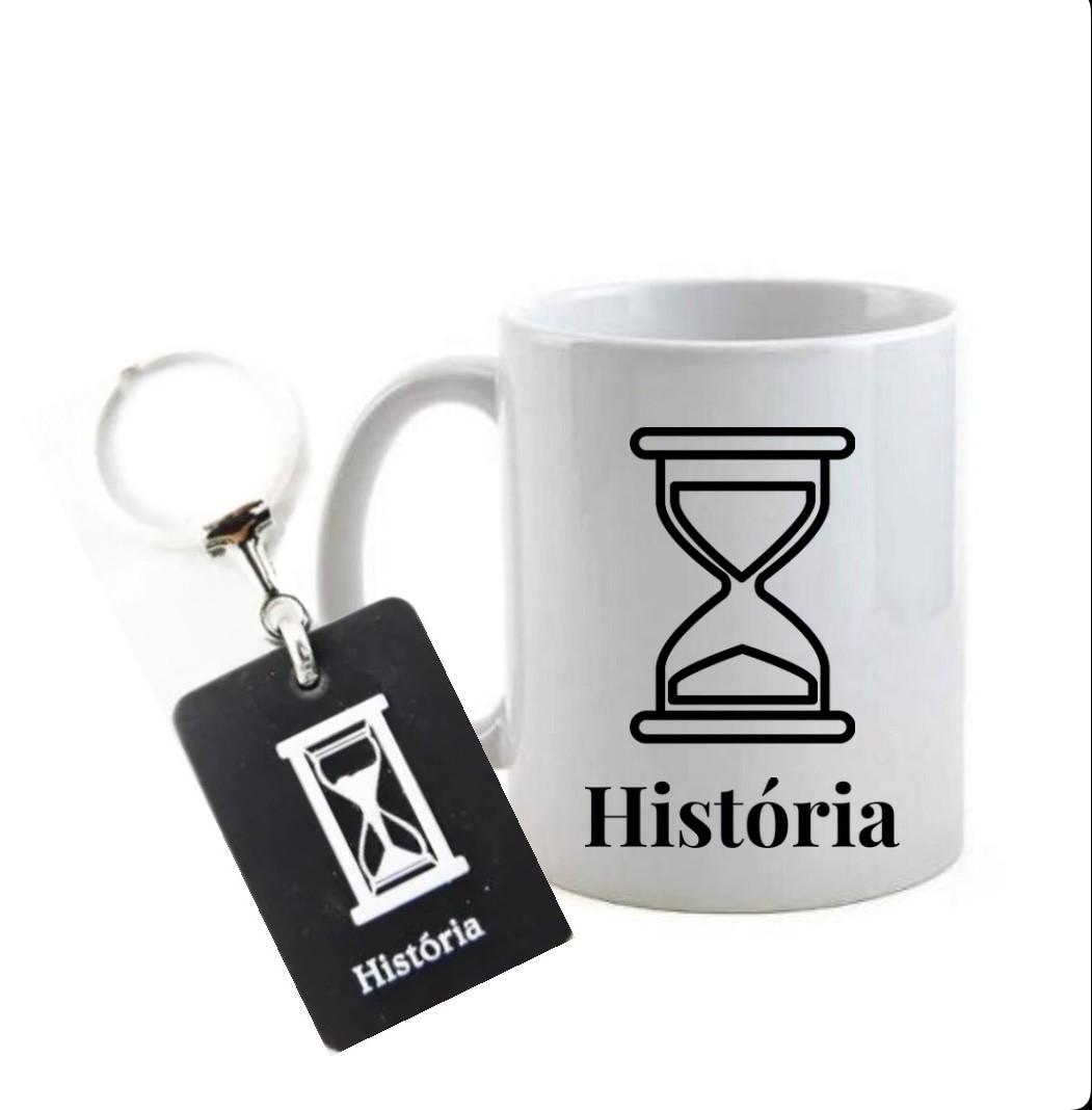 Conjunto caneca e chaveiro profissão história