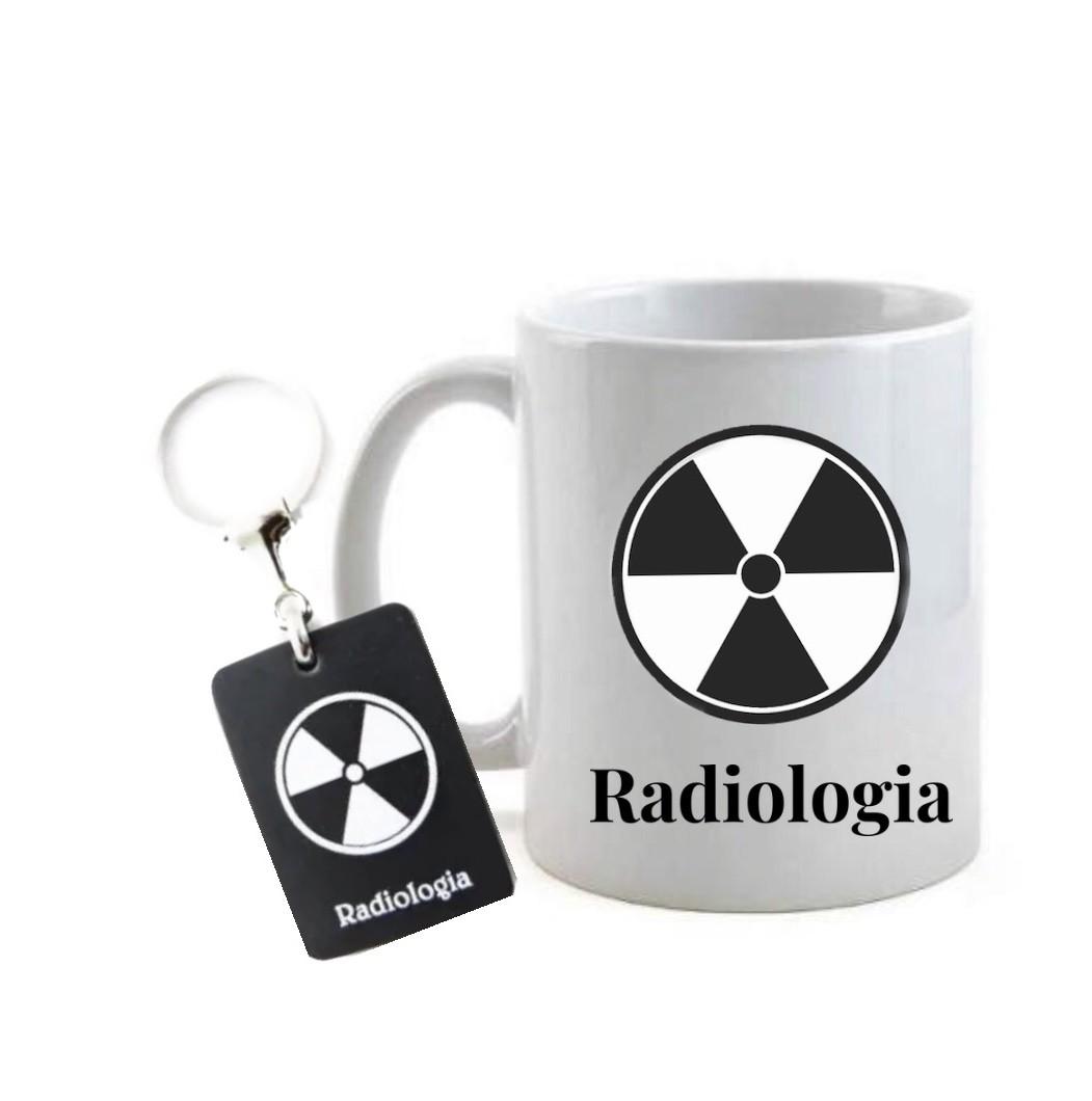 Conjunto caneca e chaveiro profissão Radiologia