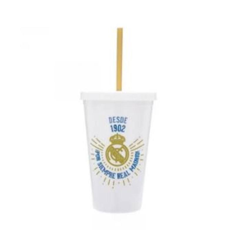 Copo com Canudo Real Madrid