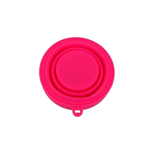 Copo de Silicone Retrátil Rosa