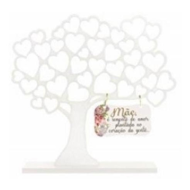 Enfeite Árvore com Coração Mãe é Semente