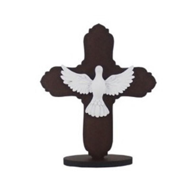 Enfeite de Mesa Cruz Com Espírito Santo
