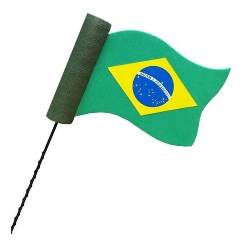Enfeite para Antena de Carro Bandeira do Brasil