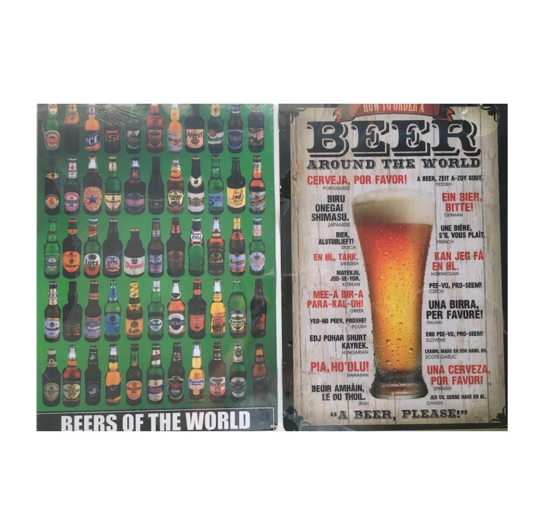Kit 2 Placas MDF Beer