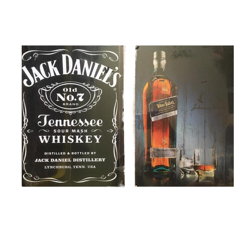 Kit 2 Placas Metal Whisky