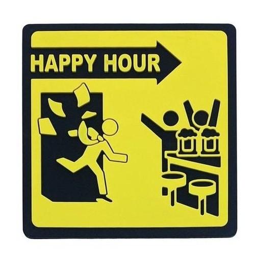 Kit 2 Porta Copos Silicone Happy Hour