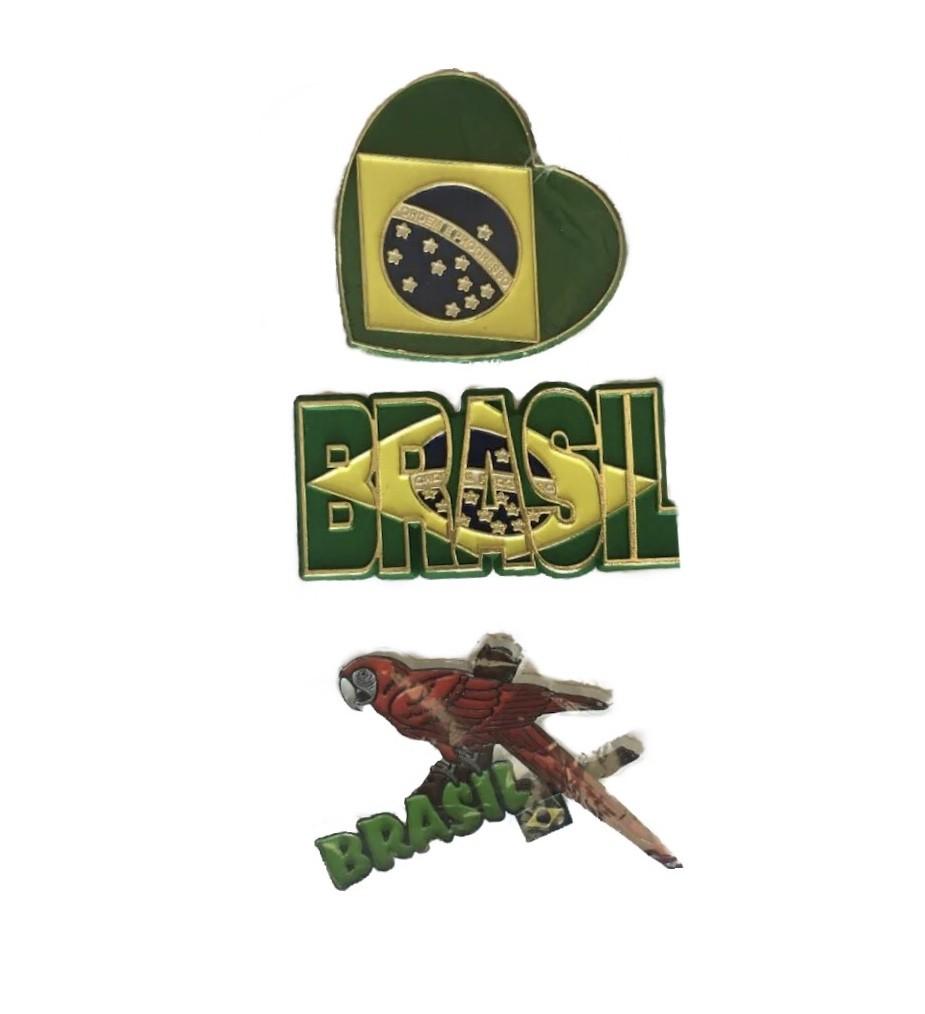 Kit 3 ímãs Brasil