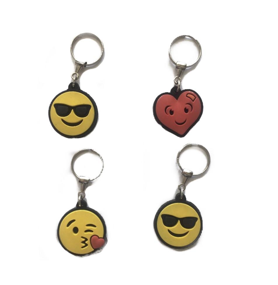 Kit Chaveiro 4 Emojis