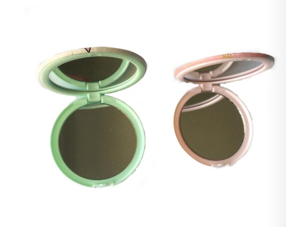 Kit Com 2 Espelhos De Bolsa Redondo