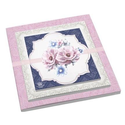 Kit com 3 Blocos Floral