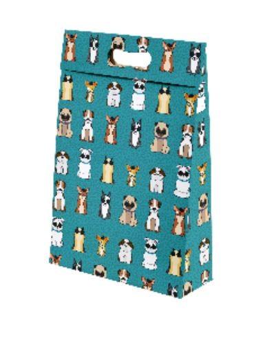 Kit com 3 Sacolas de Presente Cachorrinhos M