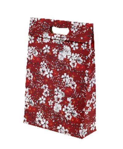 Kit com 3 Sacolas de Presente Floral Marsala M