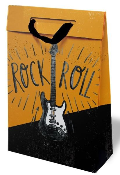 Kit com 3 Sacolas de Presente Rock'n Roll M