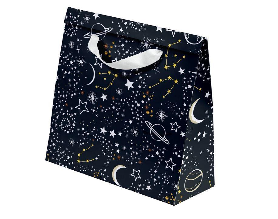 Kit com 3 Sacolas Noite Estrelada P