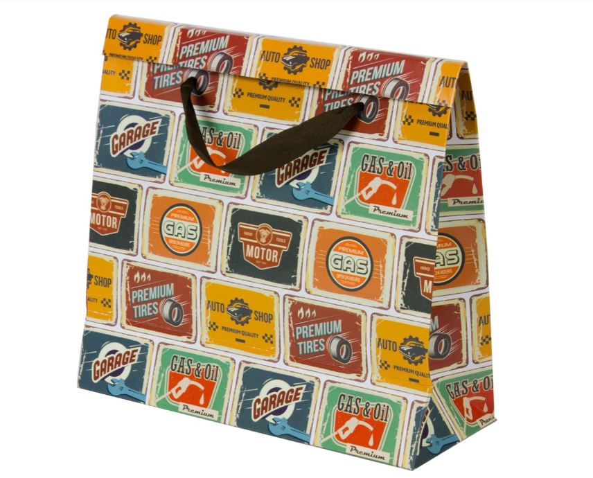 Kit com 3 Sacolas Placas Vintage P