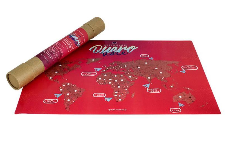Mapa Mundi Planos de Viagem - Amor