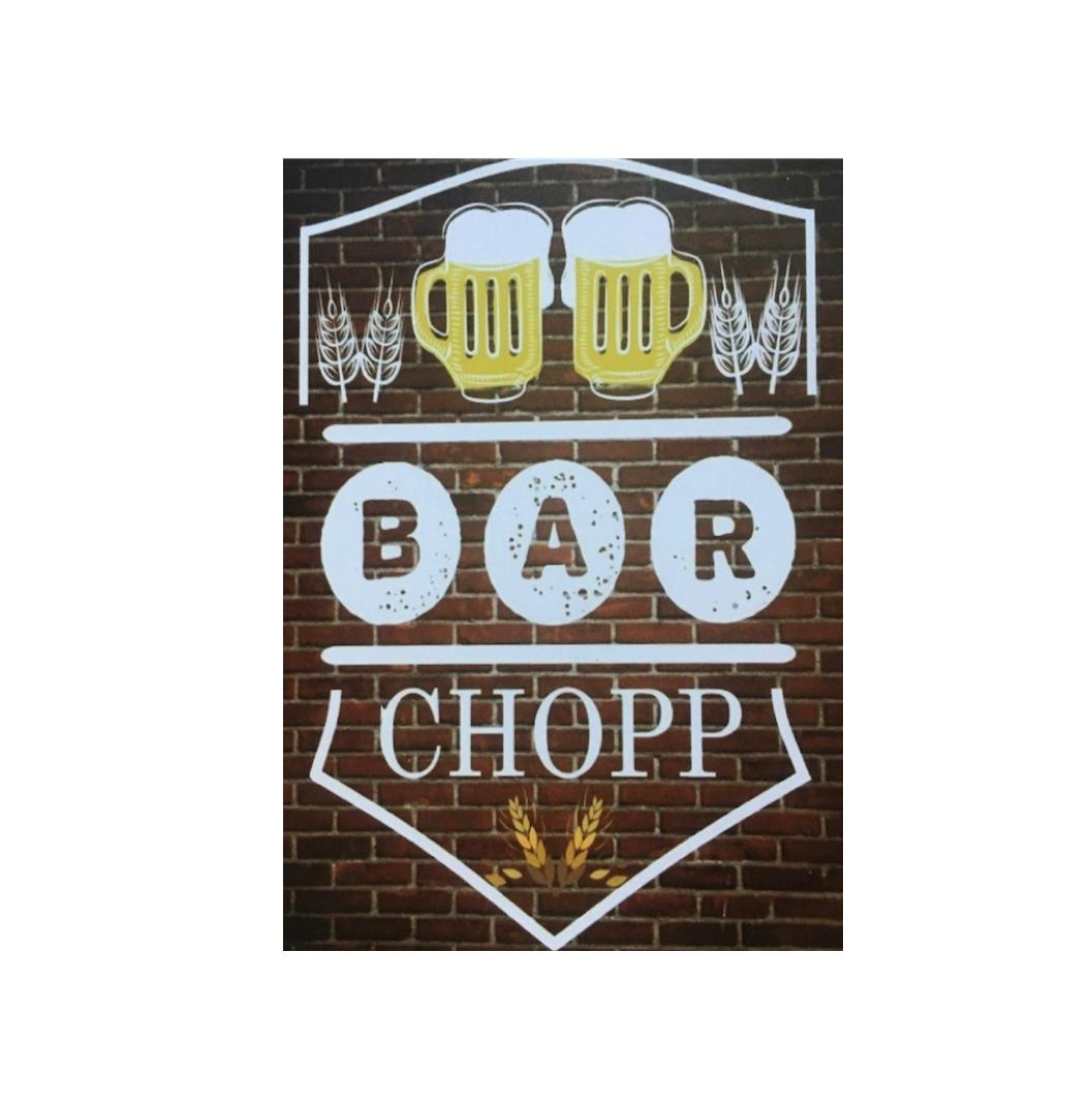 Placa Metal Bar Chopp