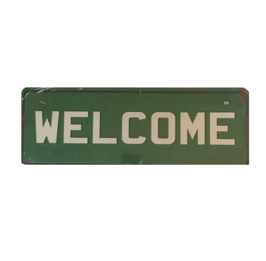 Placa Welcome