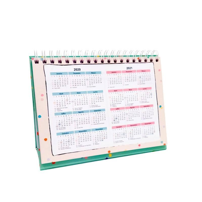 Planner de mesa - Tudo vai dar certo - Arco-íris