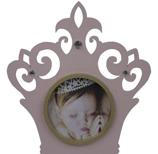 Porta-Retrato Coroa Rosa