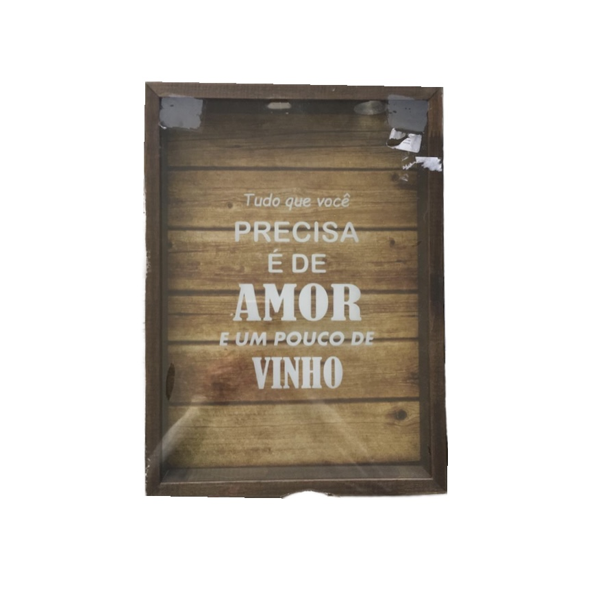 Porta Tampinha Preciso De Vinho