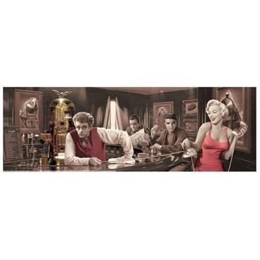 Quadro Poster Marilyn, James , Elvis e Humphrey