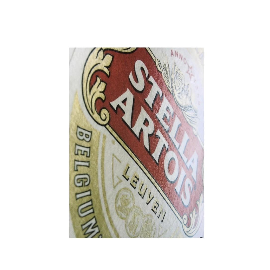 Placa Metal Stella Artois 20 x 30 cm