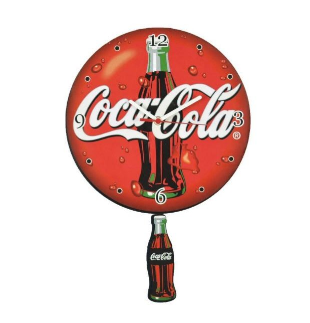 Relógio De Parede Madeira C/ Pêndulo Coca