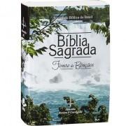 Bíblia Sagrada Fonte de Bênçãos - Capa Cachoeira