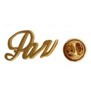 Broche - Paz - Folheado a Ouro 18K