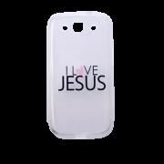 Capa Transparente para Celular Samsung Galaxy - I Love Jesus (Eu Amo Jesus)