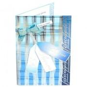 Cartão Para Presente com Envelope - Azul - Alegria Amor Fé Felicidades