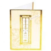 Cartão Para Presente Dourado -  Versículo Corintios 13:13 Pingente Coração