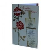 Cartão Para Presente Flor Rosas - Parabéns Meu Amor!