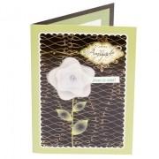 Cartão Para Presente Flores Verde - Sua Amizade...