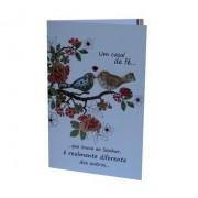 Cartão Para Presente Passaros - Um Casal de Fé que Louva ao Senhor é Realmente Diferente dos Outros...
