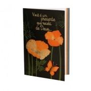 Cartão Para Presente Preto Flores Laranja - Você é um Presente Que Recebi de Deus
