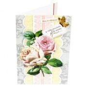 Cartão Para Presente Prata com Flores - A vida precisou de muito Amor...