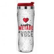Copo de Viagem para Cafe e Agua Termico 450 ml - Metade de Mim É Amor