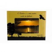 Porta Retrato Pássaro 15x10 Salmo Horizontal