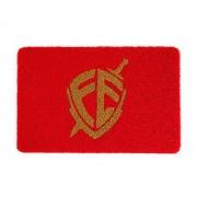 Tapete 60x40 Vermelho - Escudo Fé Dourado
