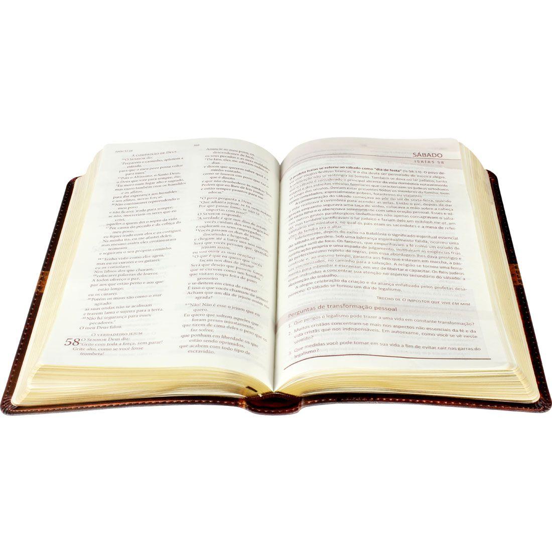 Bíblia de Transformação Pessoal Nova Tradução na Linguagem de Hoje Capa Couro