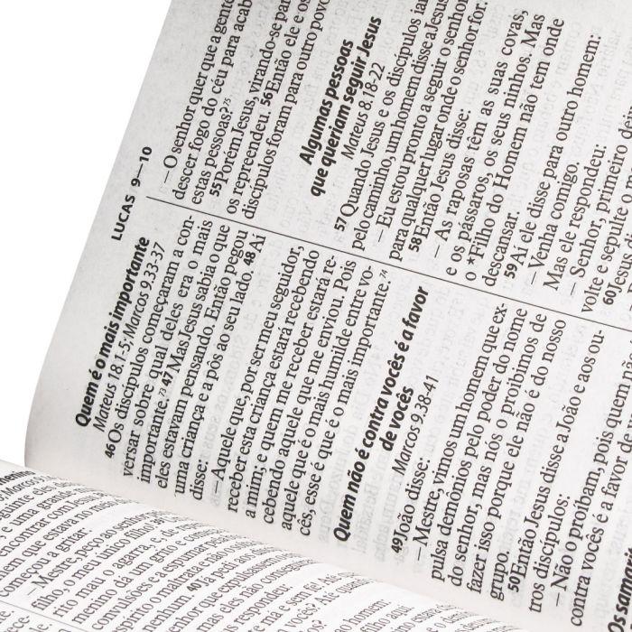 Bíblia Sagrada Letra Gigante Com Índice - Capa Rosa Pink - Nova Tradução na Linguagem de Hoje