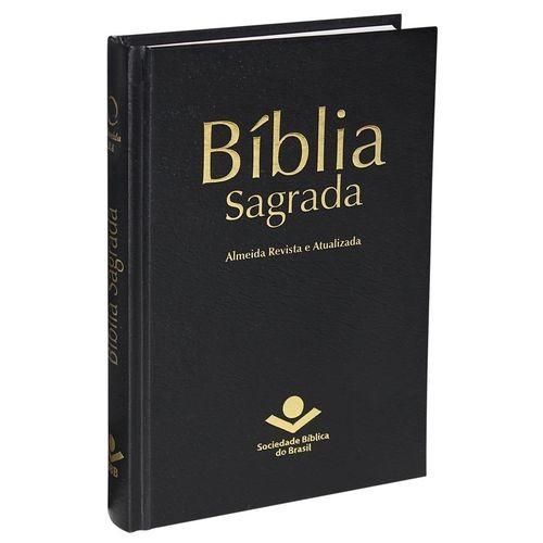 Bíblia Sagrada Edição Popular - Tradução Revista e Atualizada - Capa Dura Preta
